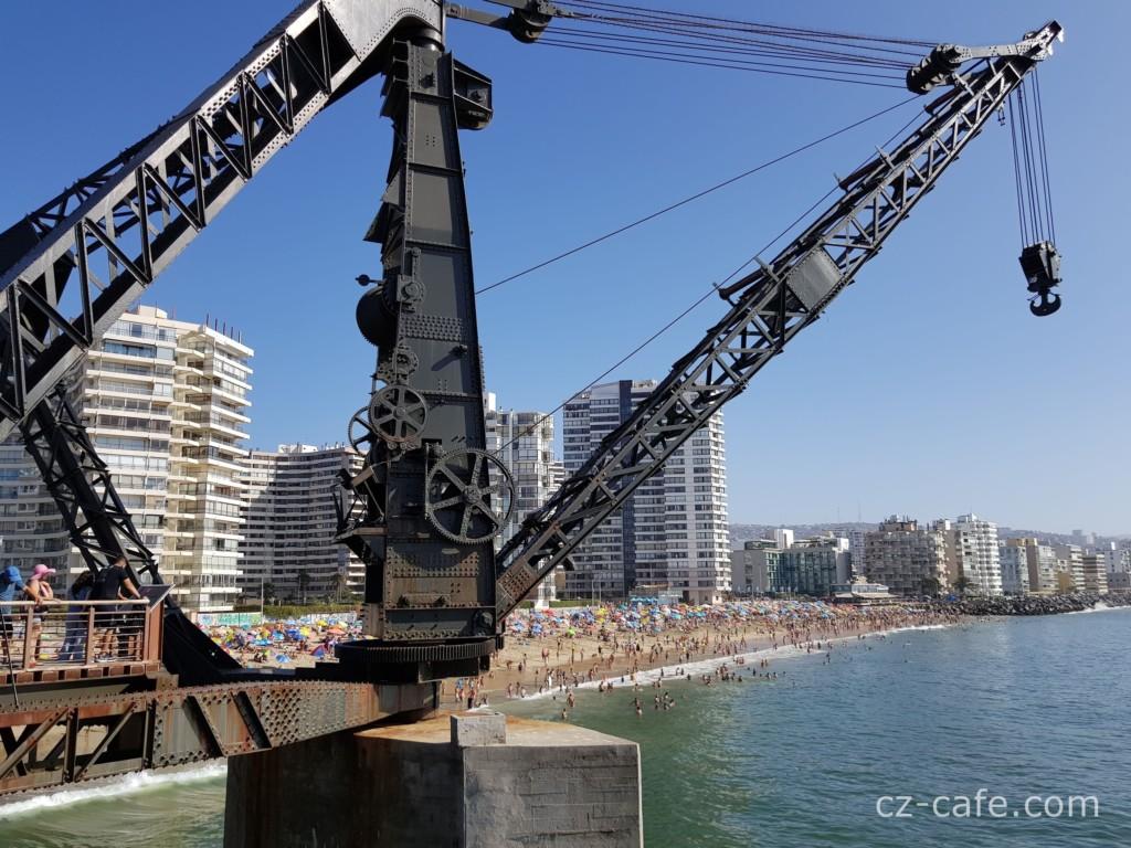 ヴェルガラ桟橋の大型クレーン